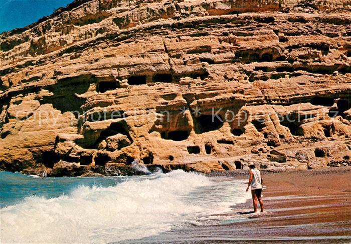 AK / Ansichtskarte Matala Strandpartie Kat. Insel Kreta