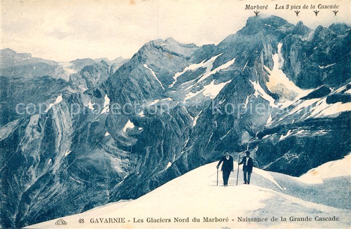 AK / Ansichtskarte Gavarnie Hautes Pyrenees Glaciers Nord du Marbore Kat. Gavarnie