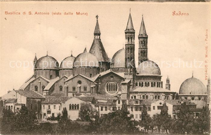 AK / Ansichtskarte Padova Basilica di S. Antonio Kat. Padova