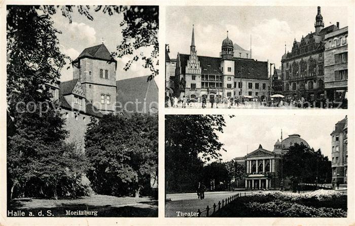 AK / Ansichtskarte Halle Saale Moritzburg Theater Marktplatz Kat. Halle