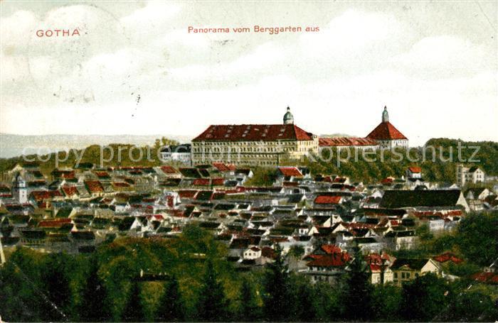 AK / Ansichtskarte Gotha Thueringen Panorama vom Berggarten  Kat. Gotha