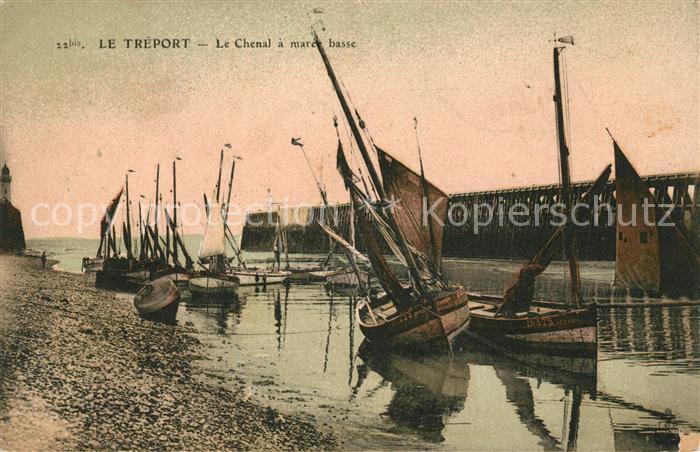 AK / Ansichtskarte Le Treport Le Chenal a maree basse Kat. Le Treport