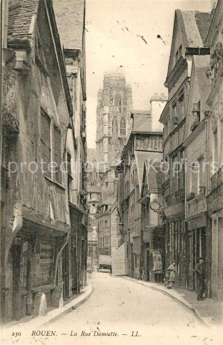 AK / Ansichtskarte Rouen La Rue Damiette Kat. Rouen