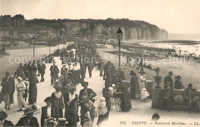 AK / Ansichtskarte Dieppe Seine Maritime Boulevard Maritime Plage Cote Kat. Dieppe