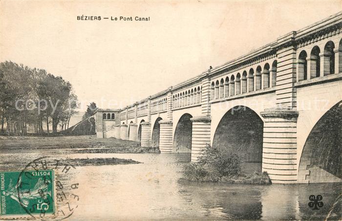 AK / Ansichtskarte Beziers le Pont Canal Kat. Beziers
