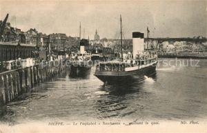 AK / Ansichtskarte Dieppe Seine Maritime Le Paquebot Newhaven quittant le quai Kat. Dieppe