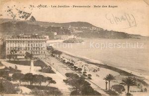 AK / Ansichtskarte Nice Alpes Maritimes Les Jardins Promenade Baie des Anges Cote d Azur Kat. Nice