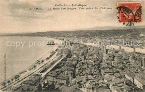 AK / Ansichtskarte Nice Alpes Maritimes La Baie des Anges vue prise du chateau Kat. Nice