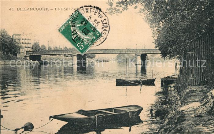AK / Ansichtskarte Billancourt Boulogne Le Pont sur la Seine Kat. Boulogne Billancourt