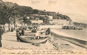 AK / Ansichtskarte Nice Alpes Maritimes Quai du Midi et le Chatau Cote d Azur Kat. Nice