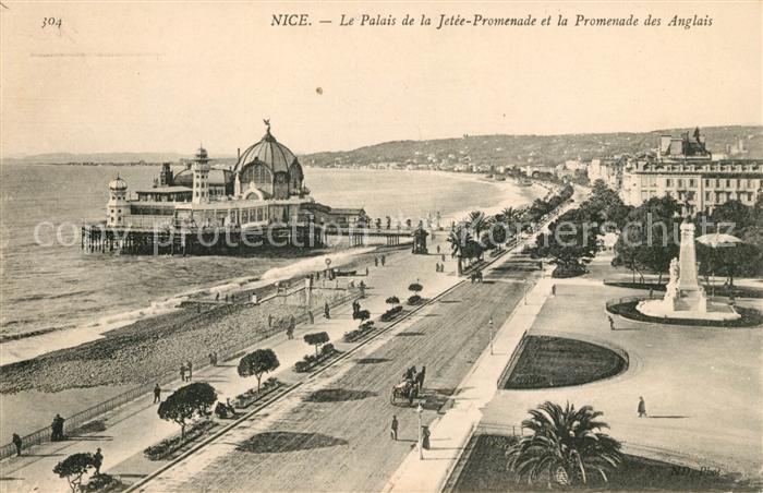 AK / Ansichtskarte Nice Alpes Maritimes Le Palais et la Jetee Promenade et Promenade des Anglais Kat. Nice
