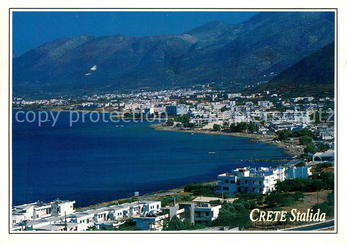 Kreta Karte Stalis.Ak Ansichtskarte Stalida Stalis Panorama Kat Insel Kreta