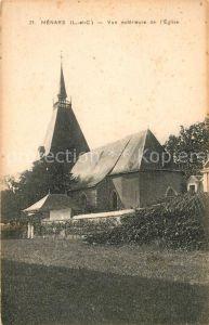 AK / Ansichtskarte Menars Vue exterieure de l Eglise Kat. Menars