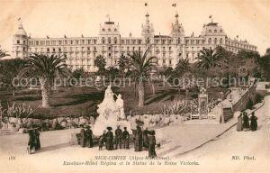 AK / Ansichtskarte Cimiez Excelsior Hotel Regina et Statue de la Reine Victoria Monument Kat. Nice