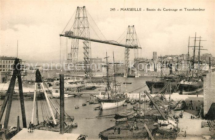 AK / Ansichtskarte Marseille Bouches du Rhone Bassin du Carenage et Transbordeur