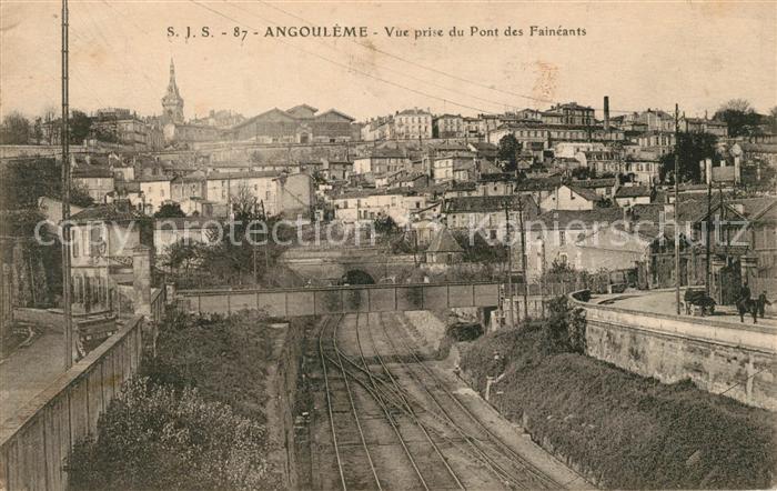 AK / Ansichtskarte Angouleme Vue prise du Pont des Faineants Chemin de fer Kat. Angouleme