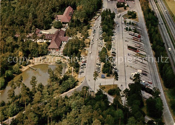 AK / Ansichtskarte Bruchsal Fliegeraufnahme Autobahn Rasthof Hotel Kat. Bruchsal
