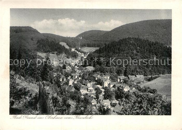 AK / Ansichtskarte Bad Grund Blick vom Knesebeck Kat. Bad Grund (Harz)