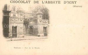 AK / Ansichtskarte Soissons Aisne Rue de la Buerie Chocolat de L`Abbaye D Igny Kat. Soissons