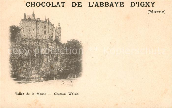 AK / Ansichtskarte Marne La Chocolat de L`Abbaye D Igny Chateau Walsin Kat. La Marne