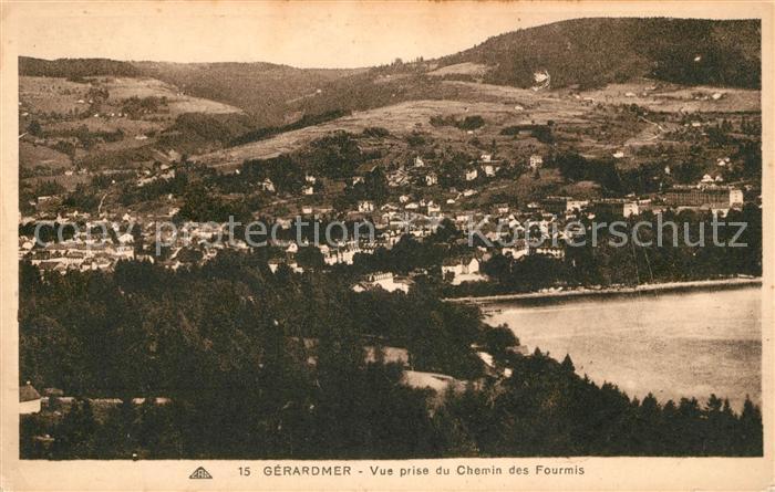 AK / Ansichtskarte Gerardmer Vosges Vue prise du Chemin des Fourmis Kat. Gerardmer