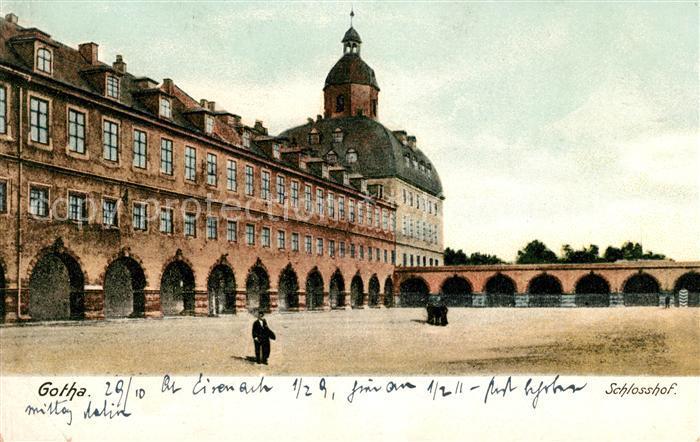 AK / Ansichtskarte Gotha Thueringen Schlosshof Kat. Gotha