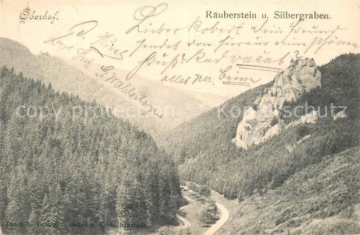 AK / Ansichtskarte Oberhof Thueringen Raeuberstein und Silbergraben Landschaftspanorama Kat. Oberhof Thueringen