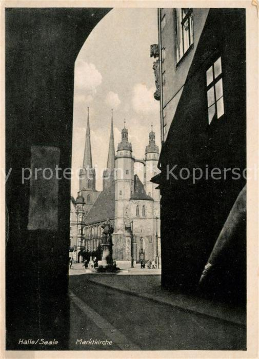 AK / Ansichtskarte Halle Saale Marktkirche Kat. Halle