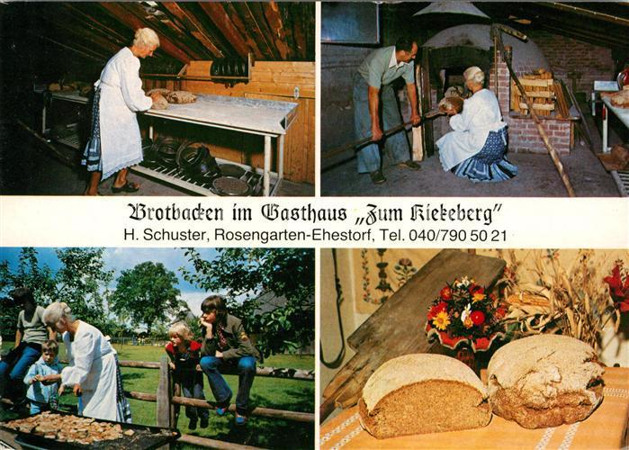 AK / Ansichtskarte Ehestorf Harburg Brotbacken Gasthaus Zum Kiekeberg Kat. Rosengarten