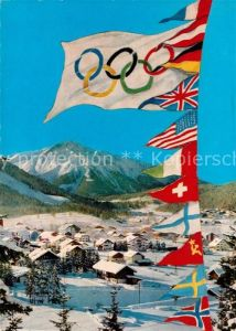 AK / Ansichtskarte Olympia IX. Olympische Winterspiele Seefeld Tirol  Kat. Sport