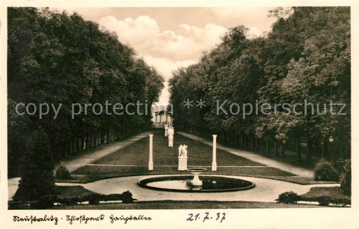 AK / Ansichtskarte Neustrelitz Schlossgarten  Kat. Neustrelitz