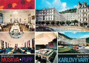 AK / Ansichtskarte Karlovy Vary Grand Hotel Moskva  Kat. Karlovy Vary Karlsbad