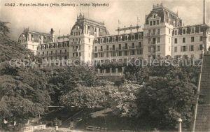 AK / Ansichtskarte Evian les Bains Haute Savoie Hotel Splendid Kat. Evian les Bains