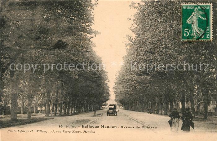 AK / Ansichtskarte Bellevue Meudon Avenue du Chateau Kat. Meudon