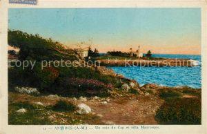 AK / Ansichtskarte Antibes Alpes Maritimes Un coin du Cap et villa Mauresque Kat. Antibes