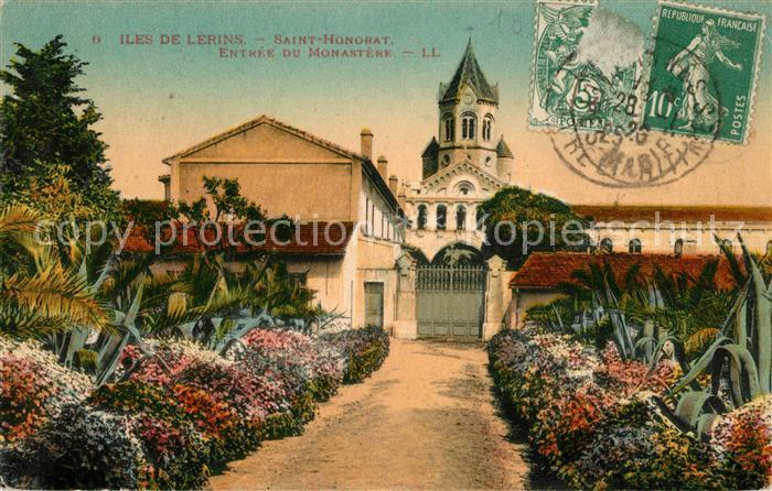 AK / Ansichtskarte Saint Honorat Entree du Monastere