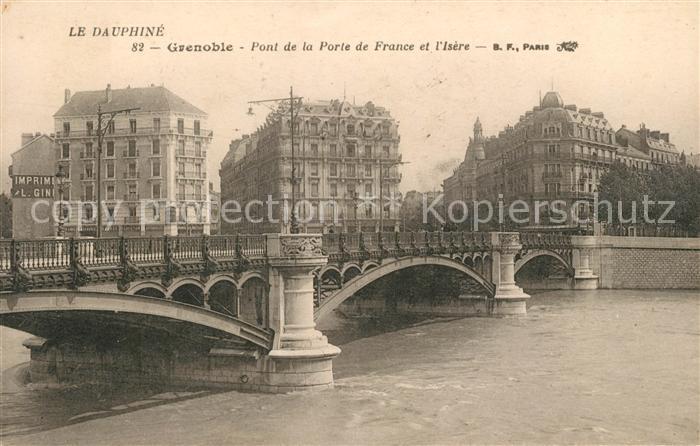 AK / Ansichtskarte Grenoble Pont de la Porte de France et l Isere Kat. Grenoble