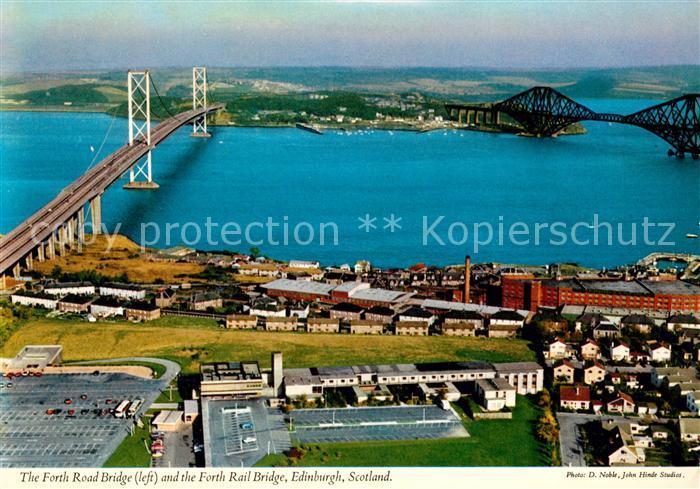 AK / Ansichtskarte Edinburgh Fliegeraufnahme Forth Road Bridge Forth Rail Bridge Kat. Edinburgh