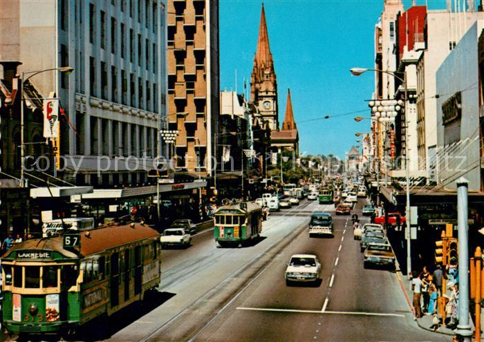 AK / Ansichtskarte Melbourne Victoria Swanston Street Kat. Melbourne
