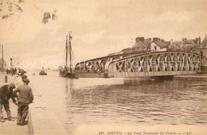 AK / Ansichtskarte Dieppe Seine Maritime Le Pont Tournant du Pollet Kat. Dieppe
