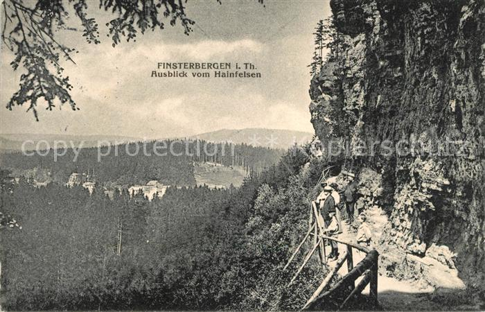AK / Ansichtskarte Finsterbergen Ausblick vom Hainfelsen Kat. Finsterbergen Thueringer Wald