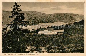 AK / Ansichtskarte Bad Berka aerzteheim Hartmannhaus Landschaftspanorama Kat. Bad Berka