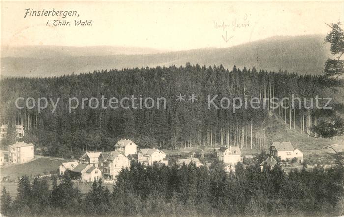 AK / Ansichtskarte Finsterbergen Panorama Kat. Finsterbergen Thueringer Wald