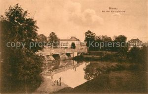 AK / Ansichtskarte Hanau Main An der Kinzigbruecke Kat. Hanau