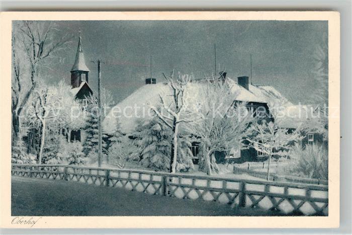AK / Ansichtskarte Oberhof Thueringen Kirche und Schule im Winter Kupfertiefdruck Kat. Oberhof Thueringen