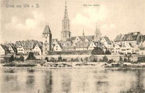 AK / Ansichtskarte Ulm Donau Teilansicht mit Muenster Kat. Ulm