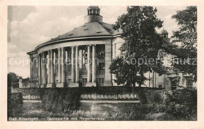 AK / Ansichtskarte Bad Kissingen Saalepartie mit Regentenbau Kat. Bad Kissingen