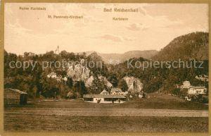 AK / Ansichtskarte Bad Reichenhall mit Ruine Karlstein und St Pankratz Kircherl Kat. Bad Reichenhall
