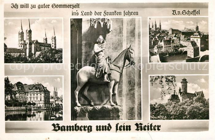 AK / Ansichtskarte Bamberg Reiter  Kat. Bamberg