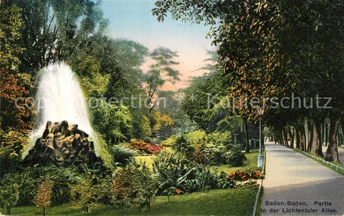 AK / Ansichtskarte Baden Baden Lichtentaler Allee Parkanlage Kat. Baden Baden